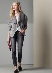 Halogen® Asymmetrical Zip Neoprene Jacket (Regular & Petite)