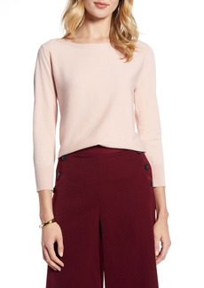 Halogen® Back Detail Sweater