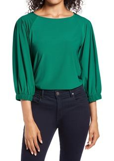 Halogen® Banded Sleeve Knit Top