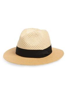Halogen® Basket Weave Panama Hat