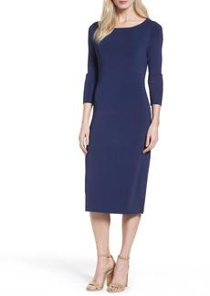 Halogen® Bateau Neck Sweater Dress (Regular & Petite)