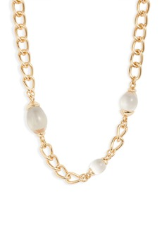 Halogen® Bead Chain Collar Necklace