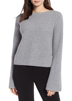 Halogen® Bell Sleeve Cashmere Sweater (Regular & Petite)