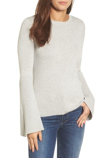 Halogen® Bell Sleeve Rib Sweater (Regular & Petite)