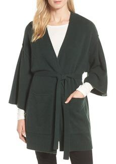 Halogen® Belted Cashmere Kimono