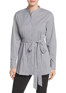 Halogen® Belted Poplin Shirt (Regular & Petite)