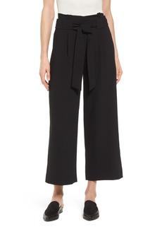 Halogen® Belted Wide Leg Crop Pants (Regular & Petite)