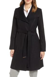 Halogen® Belted Wool Blend Coat (Regular & Petite)