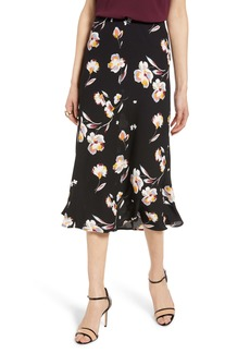 Halogen® Bias Cut A-Line Midi Skirt (Regular & Petite)