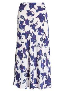 Halogen® Bias Cut A-Line Skirt (Regular & Petite)