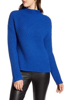 Halogen® Block Ribbed Sweater