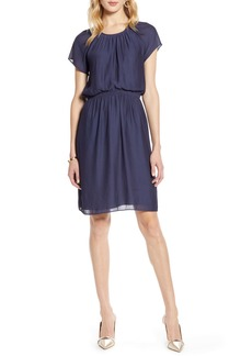 Halogen® Blouson Dress (Regular & Petite)