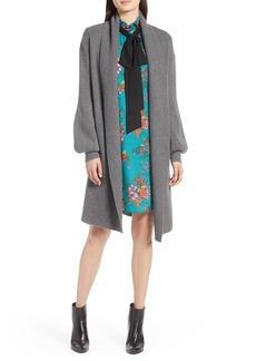 Halogen® Blouson Sleeve Long Cashmere Cardigan (Regular & Petite)