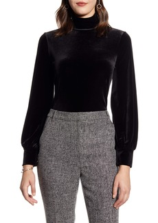 Halogen® Blouson Sleeve Velour Top