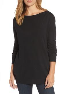 Halogen® Boatneck Tunic Sweater (Regular & Petite)