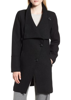 Halogen® Boiled Wool-Blend Asymmetrical Coat (Regular & Petite)