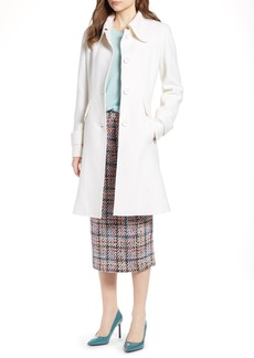 Halogen® Boiled Wool Blend Fit & Flare Coat (Regular & Petite)