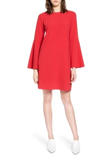 Halogen® Bow Back Flare Sleeve Dress (Regular & Petite)