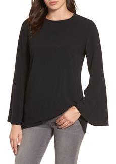 Halogen® Bow Back Flare Sleeve Tunic (Regular & Petite)