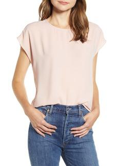 Halogen® Cap Sleeve Blouse (Regular & Petite)