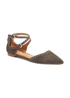 Halogen® 'Bristal' Ankle Strap Pointy Toe Flat (Women)