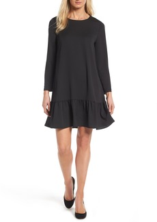 Halogen® Button Back Ruffle Hem Dress (Regular & Petite)