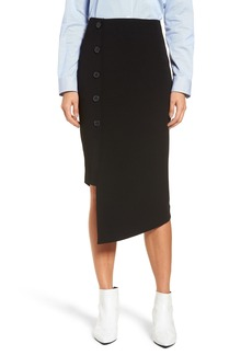 Halogen® Button Detail Asymmetrical Skirt (Regular & Petite)