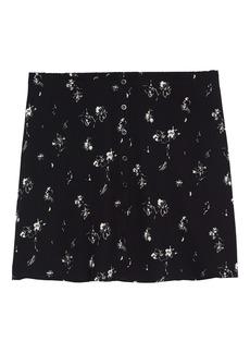 Halogen® Button Front Miniskirt