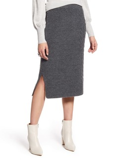 Halogen® Cable Detail Sweater Skirt