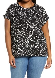 Halogen® Cap Sleeve Blouse (Plus Size)