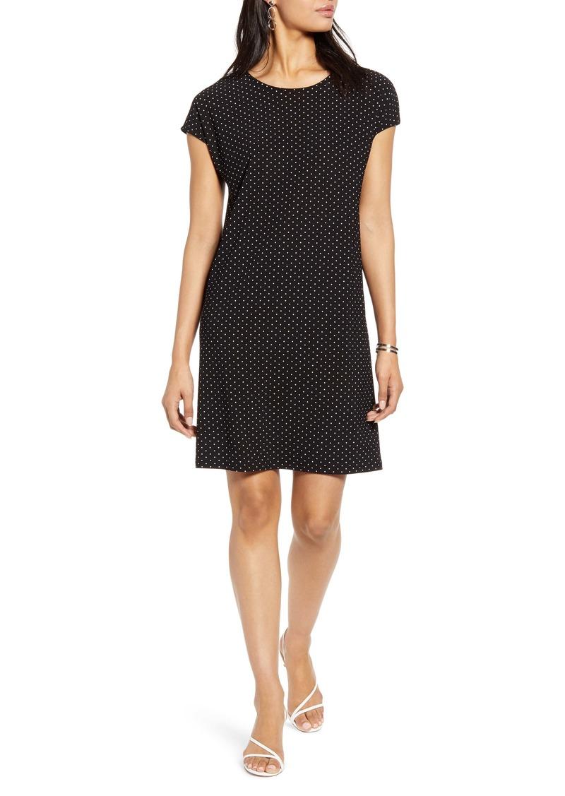 Halogen® Cap Sleeve Jersey Shift Dress (Regular & Petite)