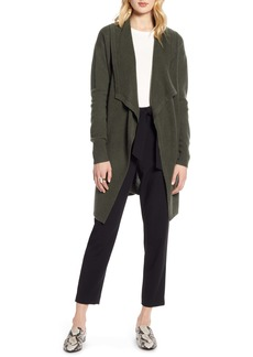 Halogen® Cashmere Long Drape Front Cardigan (Regular & Petite)