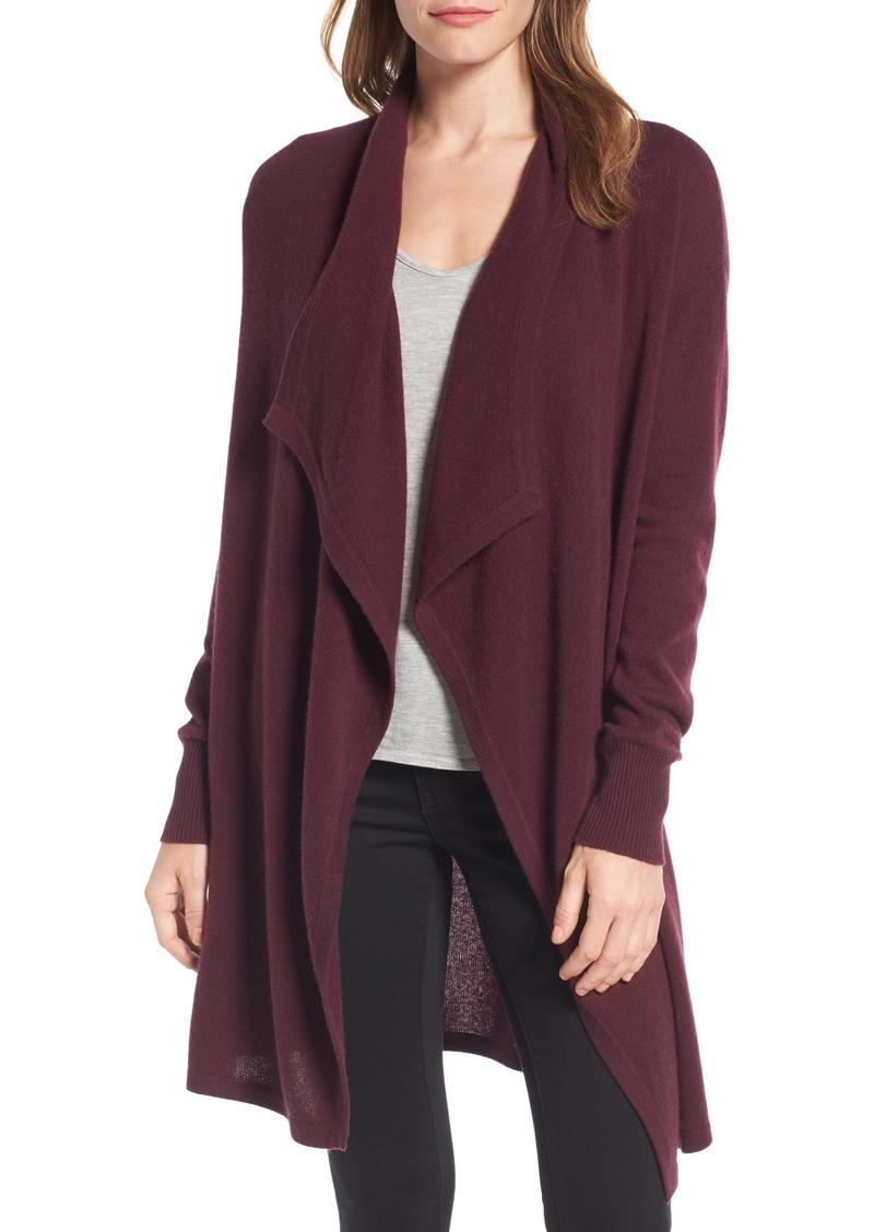 cardigan drape olivia i cream open front knit black wool drapes sweater ivory alice
