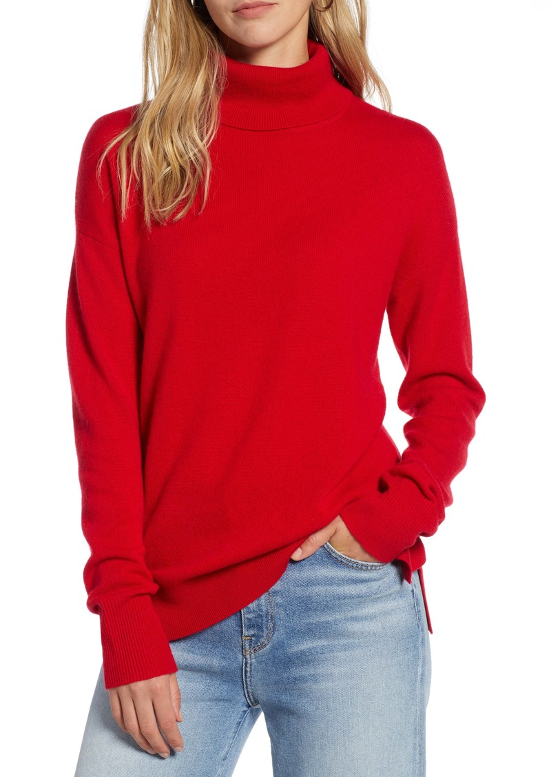 Halogen® Cashmere Turtleneck Sweater (Regular & Petite)