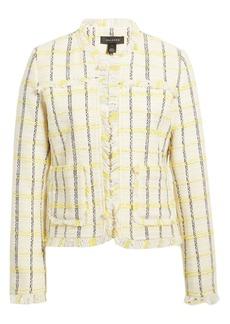 Halogen® Check Tweed Jacket (Regular & Petite)