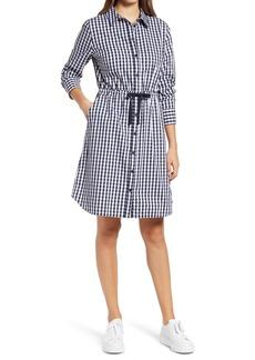 Halogen® Cinched Waist Long Sleeve Shirtdress