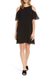 Halogen® Cold Shoulder Dress (Regular & Petite)