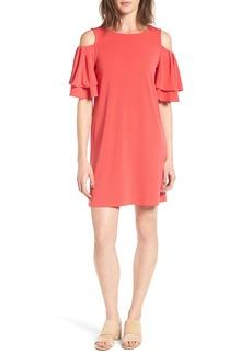 Halogen® Cold Shoulder Shift Dress