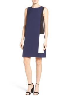 Halogen® Colorblock Layered Shift Dress (Regular & Petite)