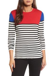 Halogen® Colorblock Stripe Sweater (Regular & Petite)