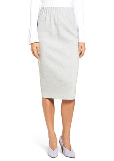 Halogen® Cotton Blend Midi Skirt (Regular & Petite)