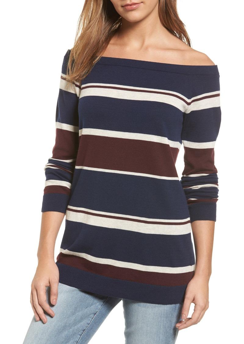 Halogen Halogen® Cotton Blend Off the Shoulder Sweater (Regular ...