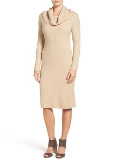 Halogen® Cowl Neck Sweater Dress (Regular & Petite)