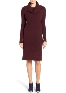 Halogen® Cowl Neck Sweater Dress (Regular & Petite)