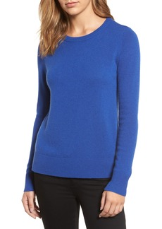 Halogen® Crewneck Cashmere Sweater (Regular & Petite)