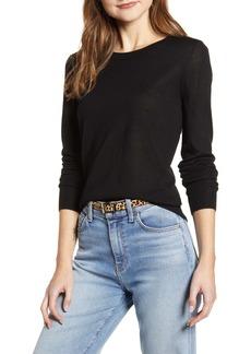 Halogen® Crewneck Merino Wool Blend Sweater