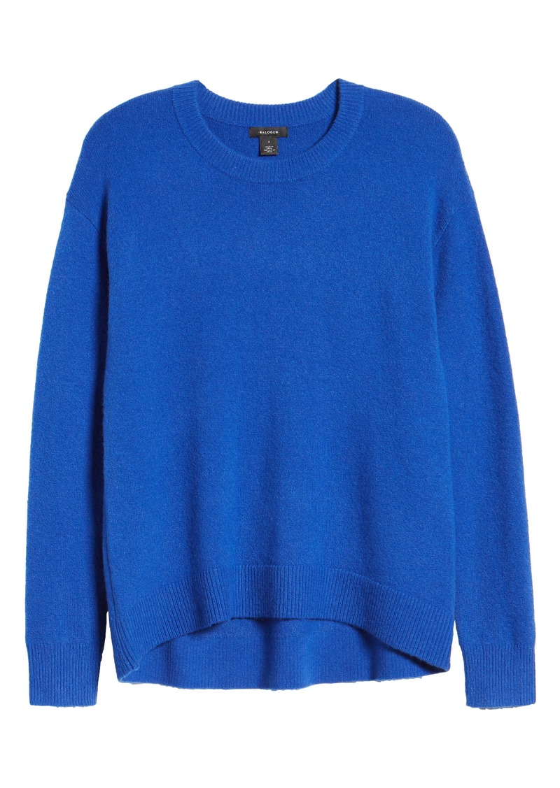 Halogen® Crewneck Wool Blend Sweater (Regular & Petite)