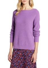 Halogen® Cross Back Ribbed Sweater