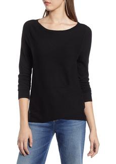 Halogen® Crossover Front Knit Sweater (Regular & Petite)