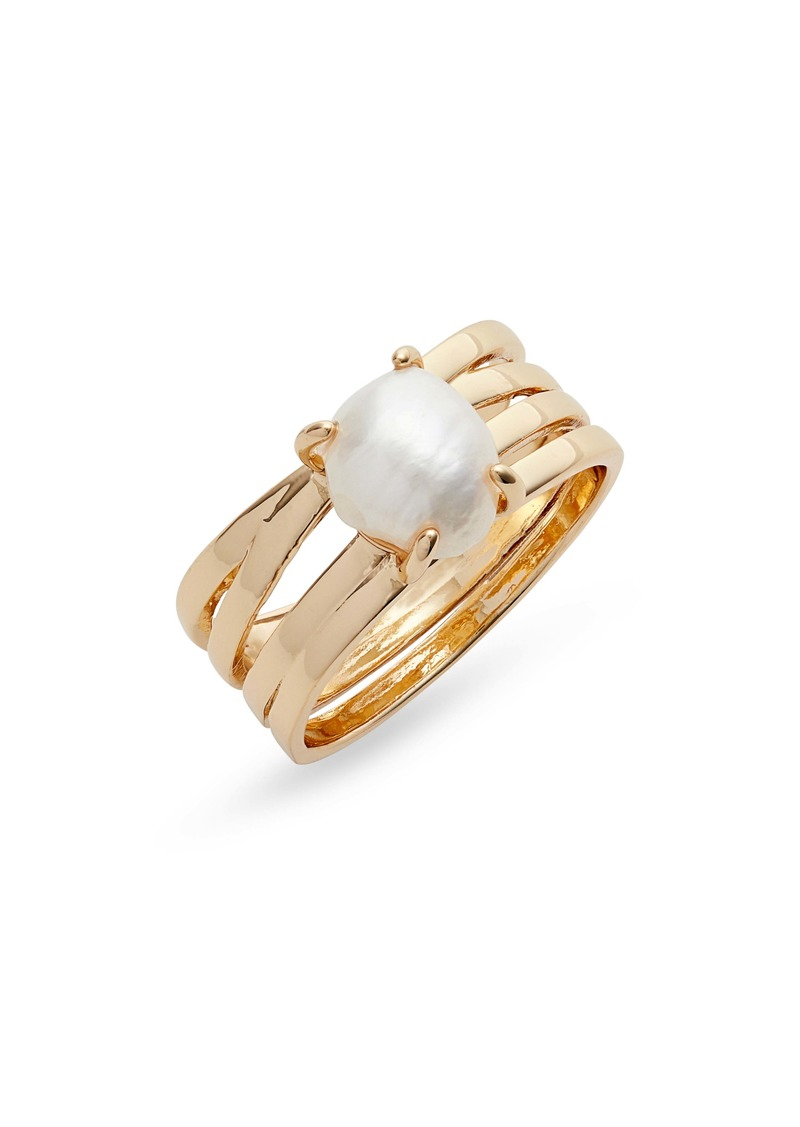 Halogen® Cultured Pearl Ring